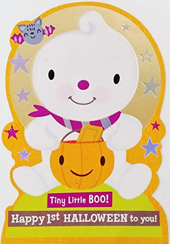 Tiny Little BOO! Happy 1st Halloween To You! Greeting Card - Baby's First Holiday -