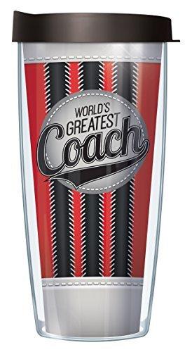 World's Greatest Coach Wrap Traveler 16 Oz Tumbler Mug with Lid