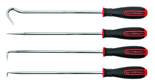 GearWrench 84020 4 Pc. Heavy-Duty Long Hook & Pick Set