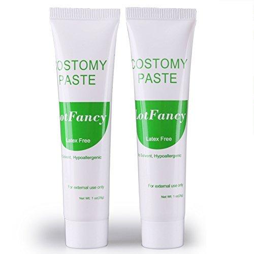 Ostomy Paste for Stoma Colostomy Ileostomy Skin Barriers by LotFancy, 1-OZ Tube, Pack of 2