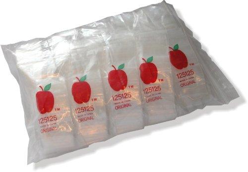 1000 1.25 x 1.25 Zip Bags Baggies Clear 2mil Brand New