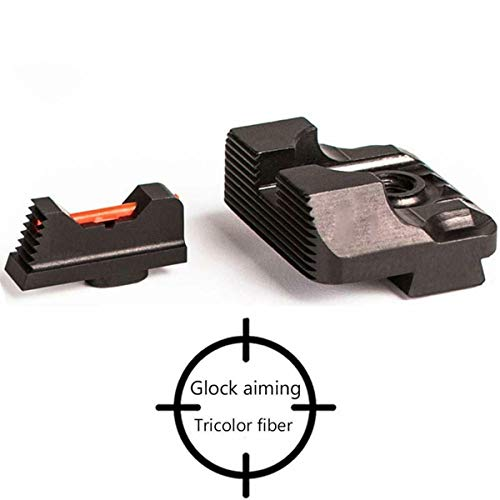 - Tebul Fiber Optic Front Sight/Rear Combat Glock Sight v3 Black for Glock Standard Models Red Green Fiber for Tactical Hunting