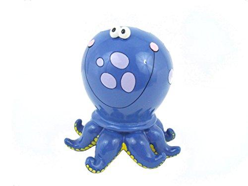Blue Polka Dot Octopus Savings Money Bank Piggy (Octopus Resin compare prices)
