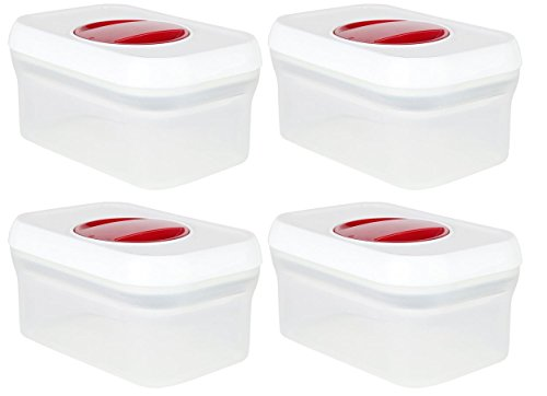 0.5 Quart Container (PERSIK PremiumSPIN & LOCK Airtight Sealed 0.5 Quart Rectangle Container for Food and Storage Organization - 4)