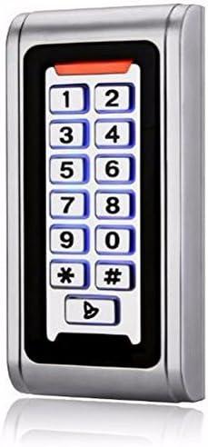 Ciecoo RFID / EM Lector de tarjetas IP68 impermeable Metal Standalone Puerta bloqueo del sistema de control de acceso con el teclado de apoyo 2000 ...