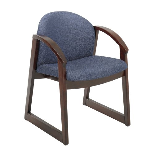 Safco Urbane Mahogany Side Chair with Arms