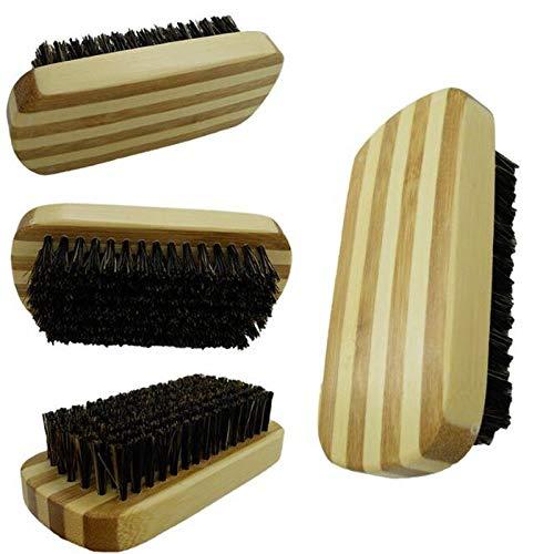 Palmyra Collection (1pcs Anti-static Hair Brush Mustache Beard Comb Beech Handle Boar Bristle)