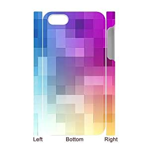 Custom Cover Case with Hard Shell Protection for Iphone 4,4S 3D case with Plaid Background lxa#879859