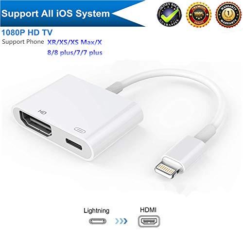 HDMI Adapter, Digital AV Adapter for HD TV Monitor Projector 1080p -white