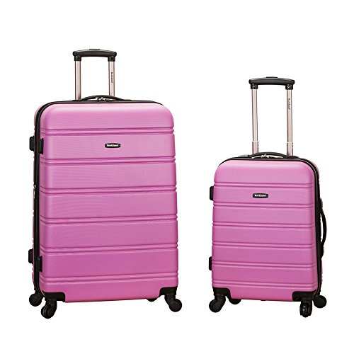 Rockland Luggage 20 Inch and 28 Inch 2 Piece Expandable Spinner Set, Pink