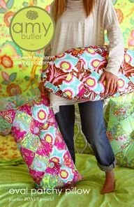 Amy Butler Oval Patchy Pillow Cushion + Bonus Pillows Sewing Pattern