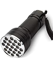 modaao Latarka UV czarne światło, 395 nm 21 LED UV ultrafioletowe czarne światła ręczna latarka światło dla psów, plamy zwierząt domowych, pluskwy, skorpiony