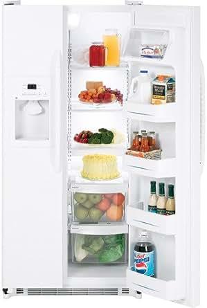 GE GSS20GEWWW 20.0 Cu. Ft. White Side-By-Side Refrigerator - Energy Star