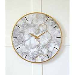 Signature Design by Ashley Jazmin Wall Clock Gray/Gold/Contemporary