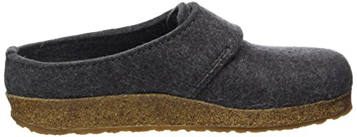 Haflinger Unisex Adults' Grizzly OLE Slippers, Blue Grey (Anthrazit 4)