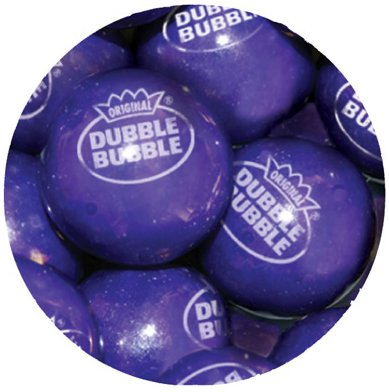 Concord Dubble Bubble Gum Balls GRAPE (0.94'')-1.5Lbs
