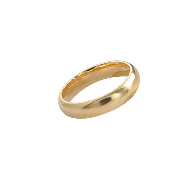 896b85b41cbd 80% OFF Sanmuhu Titanium Two Done Dome pulido Comfort Fit anillos de la  boda para