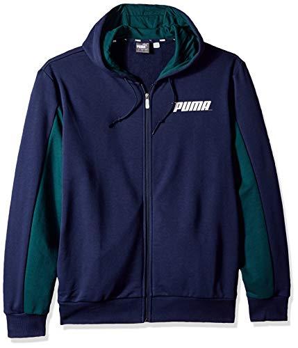 PUMA Men's Rebel Hooded Jacket, Peacoat, XX-Large