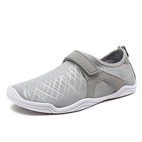 DREAM PAIRS Men's 160930-M Lt.Grey Water Shoes Quick Dry Shoes - 10 M US