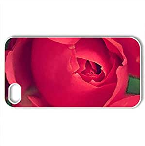 Just for You - Case Cover for iPhone 4 and 4s (Flowers Series, Watercolor style, White)