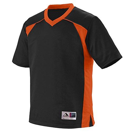 Augusta Sportswear Men's Victor Replica Jersey 2XL Black/Orange ()