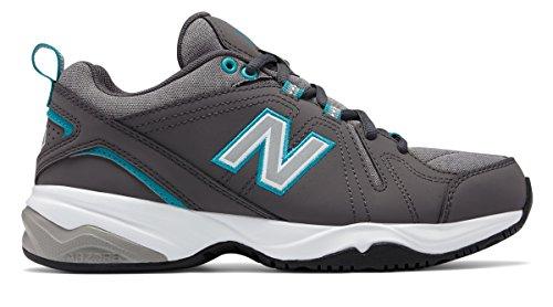 各悪夢泥沼(ニューバランス) New Balance 靴?シューズ レディーストレーニング Womens 608v4 Grey with Teal グレー ティール US 11 (28cm)