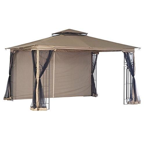 Garden Winds LCM886B-RS Regency Gazebo RipLock 350 Replacement Canopy, Beige