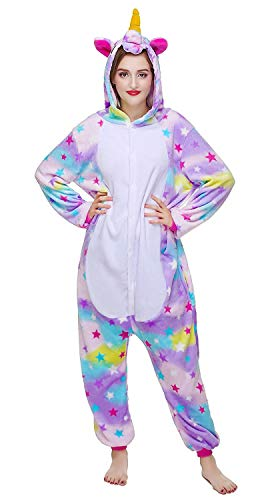 Licorne Unisex Adult Pajamas, Nousion Cosplay Christmas Unicorn Sleepwear Onesies Outfit  for $<!--$23.99-->