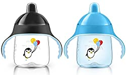 Philips AVENT My Penguin Sippy Cup, Pink, 9 Ounce (Pack of 2) by Philips Avent