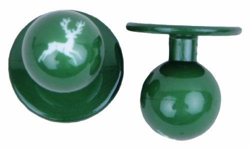 Kochkn?pfe kochknopf boutons boutons de 12 pices de diffrentes couleurs, noir, taille unique Vert - grn mit Hirsch