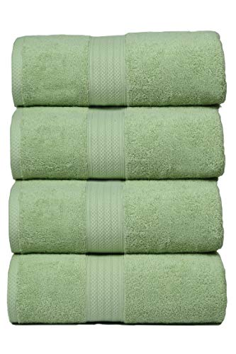 Glamburg 4-Pack Bath Towel Set 100% Combed Cotton 4 Bath Towels 27