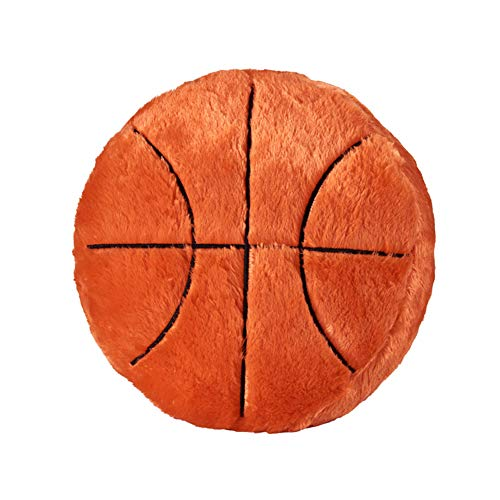 (Ozzptuu Sports Theme Stuffed Plush Throw Pillows Round Shape Back Cushion Home Office Sofa Decor (Basketball) )