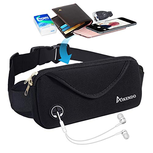AIKENDO Running Pouch Belt,Workout Fanny Pack Men & Women for iPhone X XR XS 8Plus,Bounce Free Sports Waist Pack Bag for Running,Jogging,Gym,Travelling