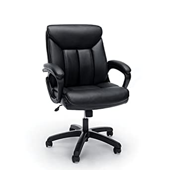Essentials Leather Executive ComputerOffice Chair with Arms