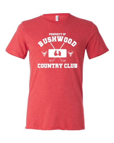 XX-Large Light Red Adult Property Of Bushwood Country Club Caddyshack Inspired Triblend Short Sleeve T-Shirt -
