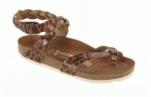 Birkenstock Thong ''Yara'' from Leather in Rust Braun Giraffe 37.0 EU W