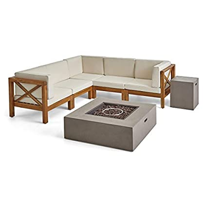 Amazon.com : Great Deal Furniture Cytheria Outdoor Sectional Sofa ...