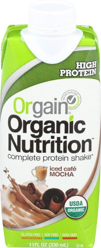 Orgain Organic Nutrition Discourage, Iced Café Mocha, 11 Ounce,(Pack of 12) Packaging May Vary