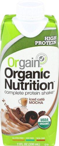 Orgain Organic Nutrition Shake, Iced Café Mocha, 11 Ounce, 12 (Le Grass Cafe)