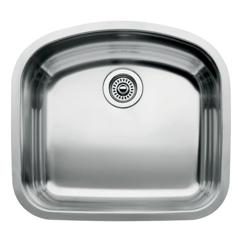 BLANCO 440249 WAVE Undermount Kitchen Sink, Stainless Steel