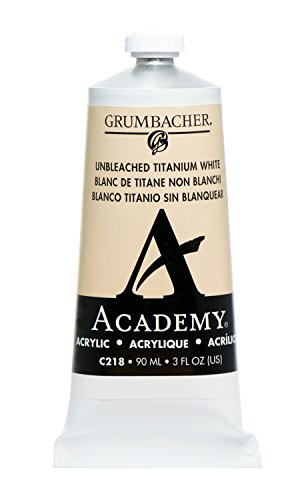Grumbacher Academy Acrylic Paint, 90ml/3 oz Metal Tube, Unbl