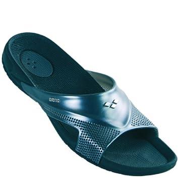 46f16d30322 Arena Claquettes de piscine homme Hydrowalk Noir gris foncé métallique 37