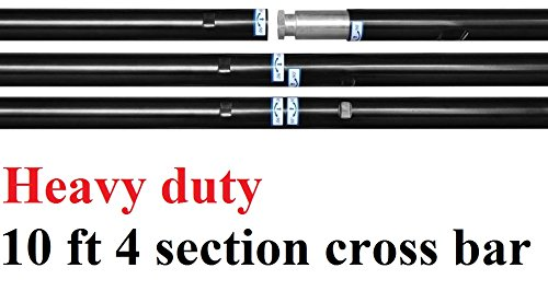 CanadianStudio Heavy duty Background Support Backdrop Stand 10 feet 4 sections Cross Bars KL4320