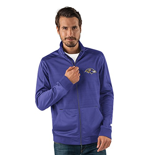 G-III Sports NFL Baltimore Ravens Men's Progression Full Zip Track Jacket, Large, -