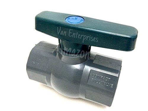 2 PRO SERIES PVC Ball Valve. SCHEDULE 80. FULL PORT, Compact Octagonal Ball Valve