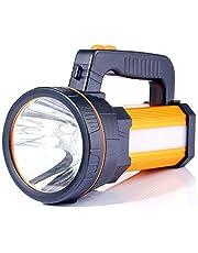 ALFLASH Powerful Rechargeable Torch Lantern 6000 Lumens Super Bright Waterproof Handheld Flashlight Spotlight Portable LED searchlight,5Model