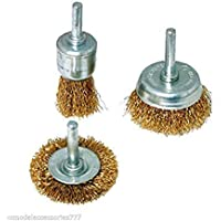 Wales Wire Brass Brush Multipurpose Set to Remove Paint, Dust, Dirt- Set of 3