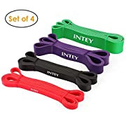 #LightningDeal INTEY Pull up Assist Band Exercise Resistance Bands for Workout Body Stretch Powerlifting Set of 4