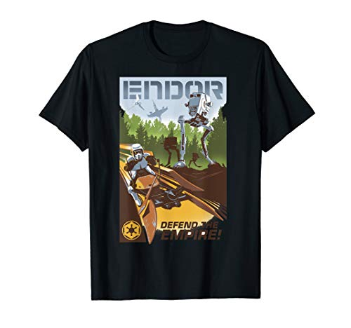 Star Wars Endor Defend The Empire Collage Poster T-Shirt