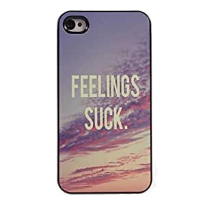 LIMME Feelings Suck Design Aluminum Hard Case for iPhone 5/5S